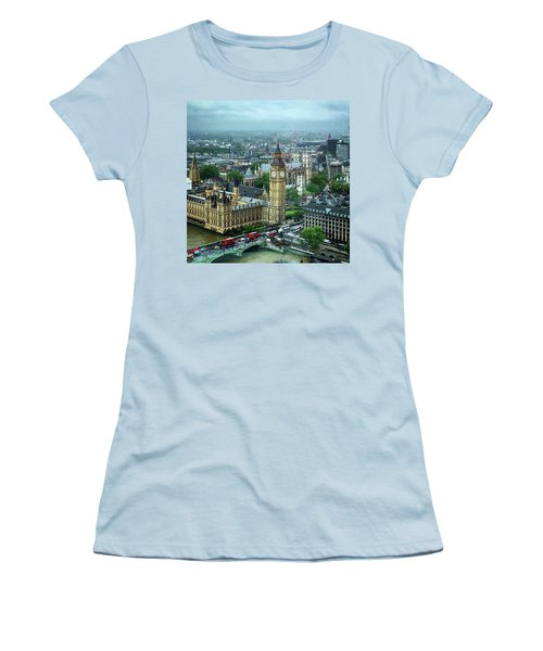 Big Ben From The London Eye Women's T-Shirt (Athletic Fit)