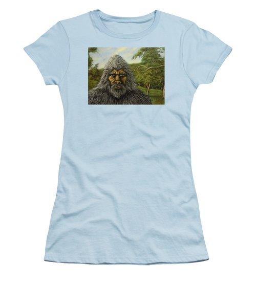 Big Foot In Pennsylvania Women's T-Shirt (Junior Cut) by James Guentner