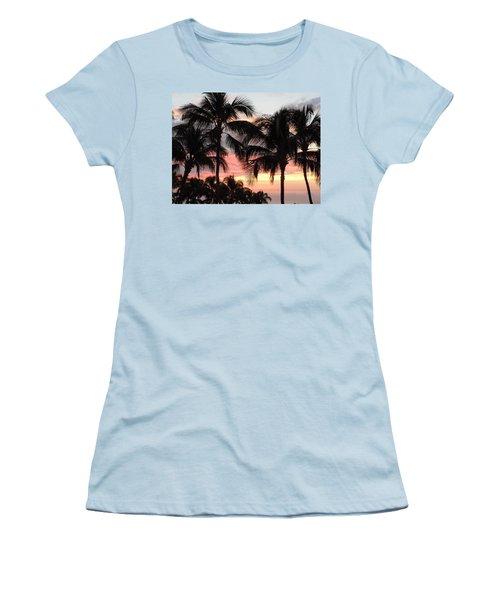 Big Island Sunset 1 Women's T-Shirt (Junior Cut) by Karen J Shine