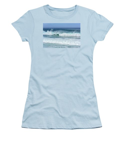 Women's T-Shirt (Junior Cut) featuring the photograph Big Waves by Marion McCristall