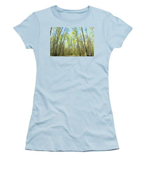 Birch Forest Spring Women's T-Shirt (Junior Cut) by Irina Afonskaya