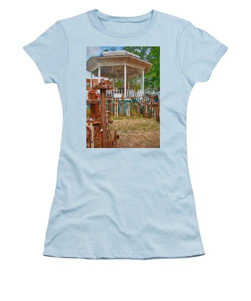 Bird Houses Women's T-Shirt (Junior Cut) by Trey Foerster