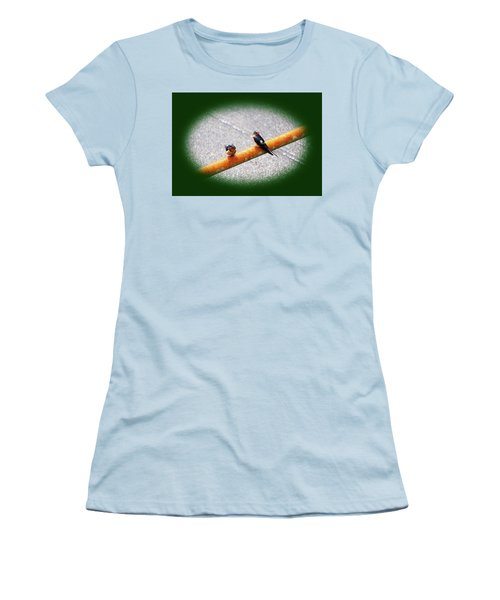 Birds On A Pipe Women's T-Shirt (Junior Cut) by Angi Parks
