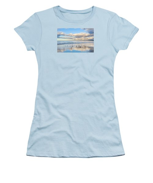 Birds On The Beach Women's T-Shirt (Athletic Fit)