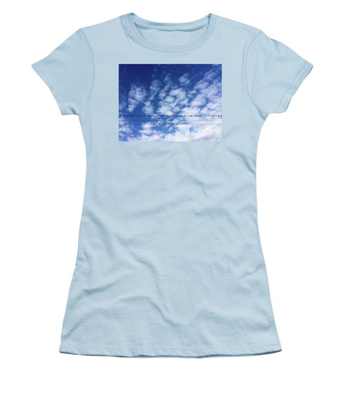 Birds On Wire Women's T-Shirt (Athletic Fit)