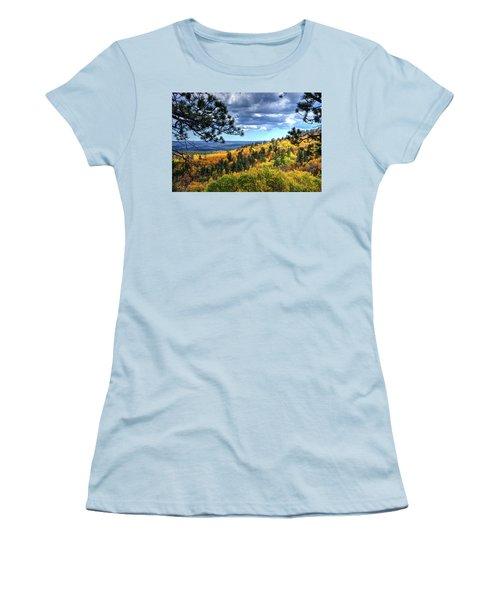 Black Hills Autumn Women's T-Shirt (Junior Cut) by Fiskr Larsen