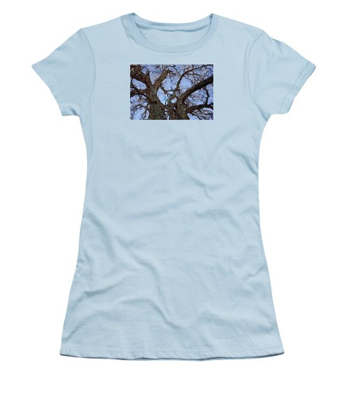 Women's T-Shirt (Junior Cut) featuring the painting Black Oaks by Mark Greenberg