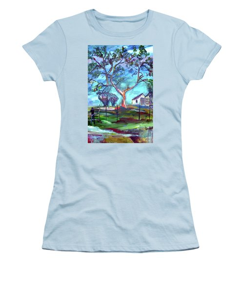 Blanco Texas Ranch House Women's T-Shirt (Athletic Fit)