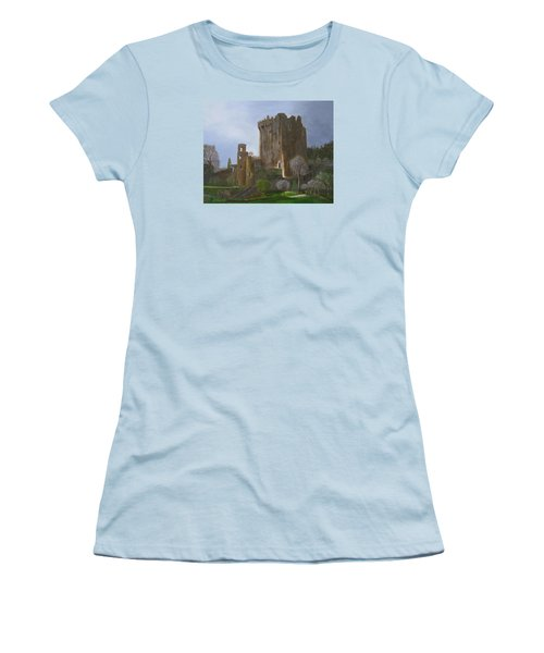 Blarney Castle Women's T-Shirt (Junior Cut) by LaVonne Hand