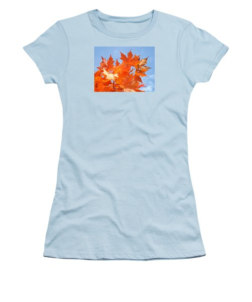 Blazing Maple Women's T-Shirt (Athletic Fit)