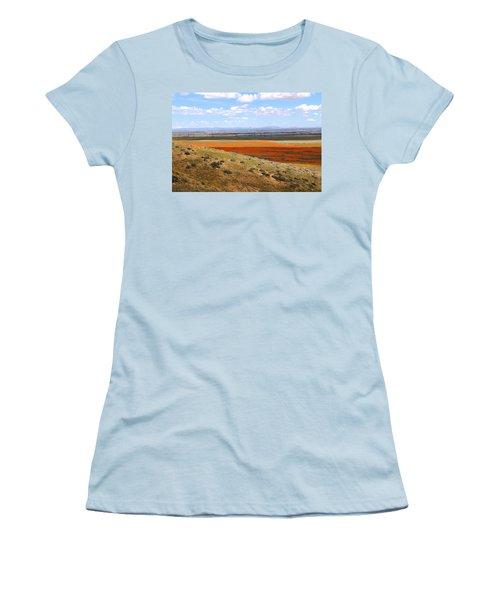 Women's T-Shirt (Junior Cut) featuring the photograph Blooming Season In Antelope Valley by Viktor Savchenko