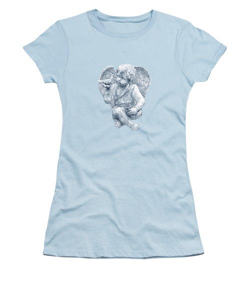 Blue Angel Cutout Women's T-Shirt (Athletic Fit)