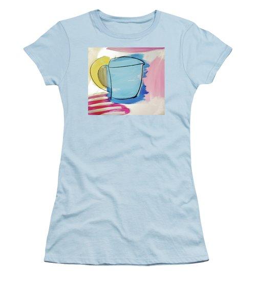 Blue Coffee Mug Women's T-Shirt (Junior Cut) by Amara Dacer