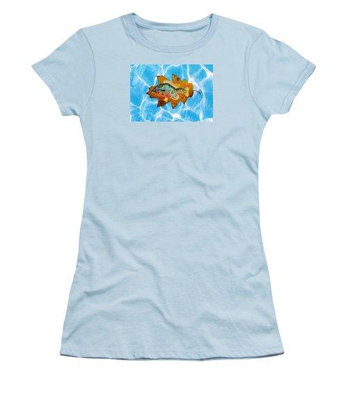 Blue Gill Women's T-Shirt (Junior Cut) by Ralph Root