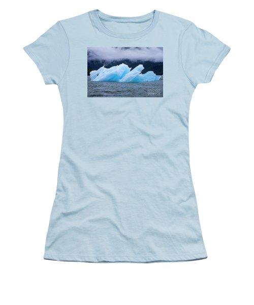 Blue Iceberg Women's T-Shirt (Athletic Fit)