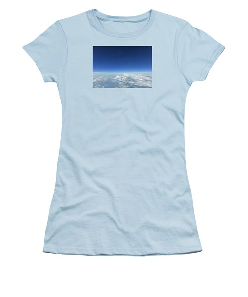 Women's T-Shirt (Junior Cut) featuring the photograph Blue In The Sky by AmaS Art