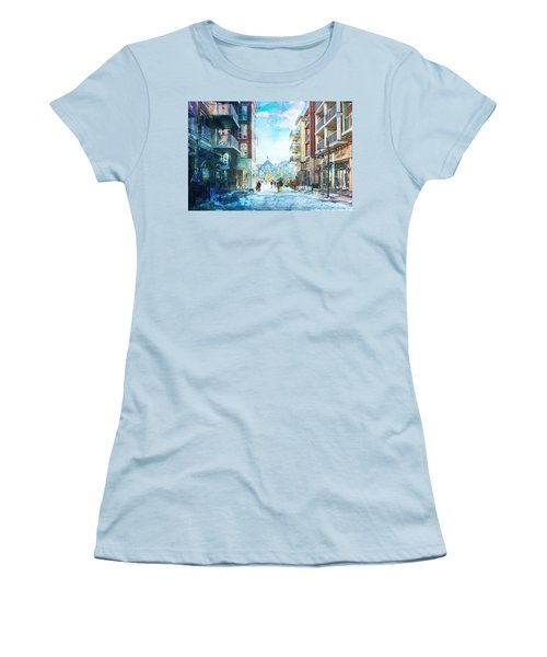 Blue Mountain Village, Ontario Women's T-Shirt (Athletic Fit)
