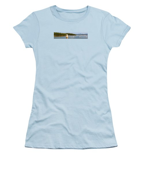 Blue Ridge Dam - Panoramic Women's T-Shirt (Junior Cut)