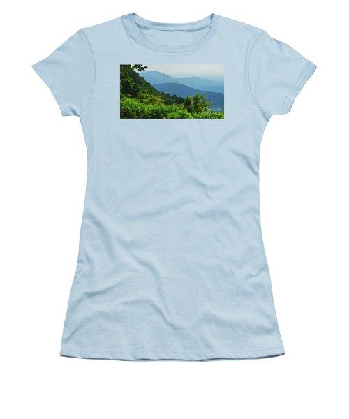 Blue Ridge Mountain Layers Women's T-Shirt (Junior Cut) by Kerri Farley