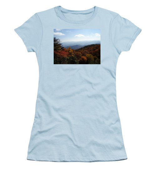 Blue Ridge Mountains Women's T-Shirt (Junior Cut) by Flavia Westerwelle
