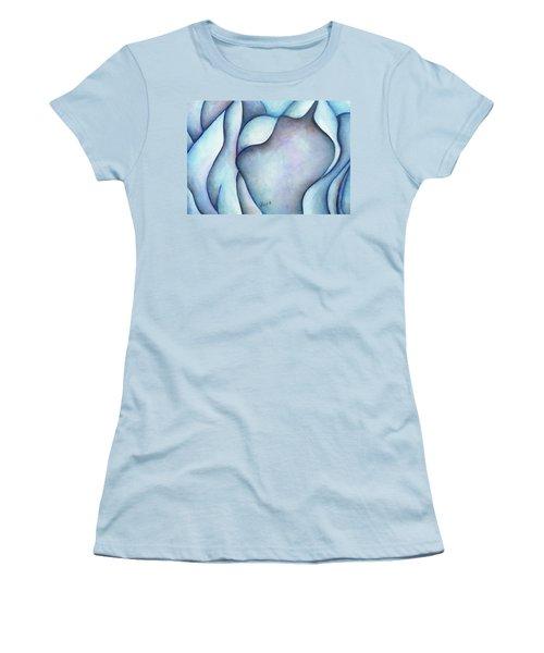 Blue Rose Women's T-Shirt (Junior Cut) by Versel Reid