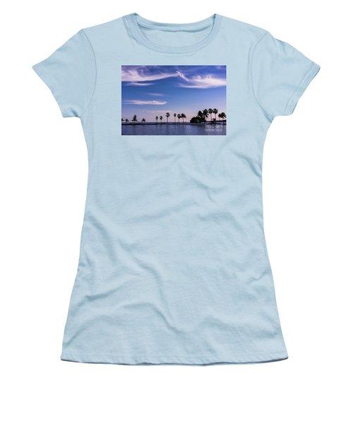 Blue Tropics Women's T-Shirt (Athletic Fit)