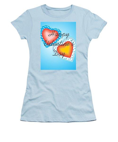 Blue Valentine Lace  Women's T-Shirt (Junior Cut) by Sherril Porter