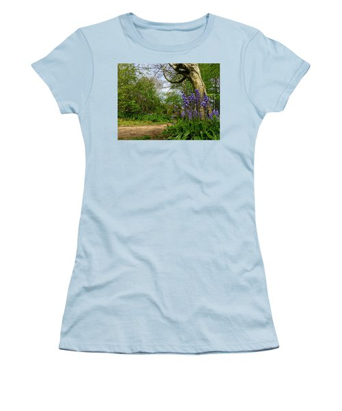 Bluebells By The Tree Women's T-Shirt (Junior Cut) by John Topman