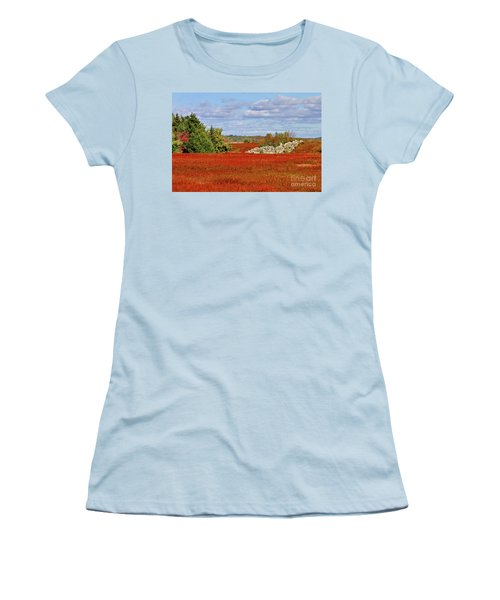 Blueberry Field Women's T-Shirt (Athletic Fit)