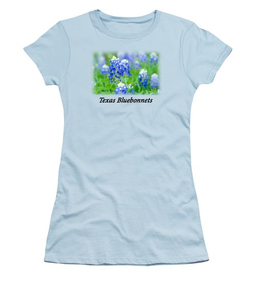 Bluebonnet With Font T-shirt Women's T-Shirt (Athletic Fit)
