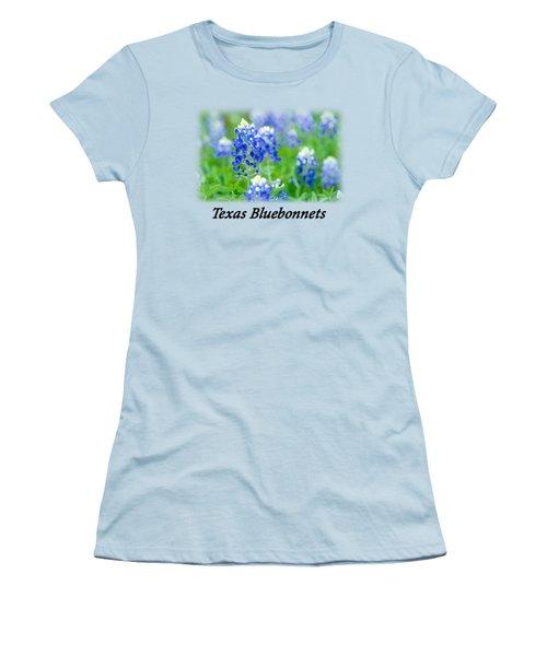 Bluebonnet With Font T-shirt Women's T-Shirt (Athletic Fit)