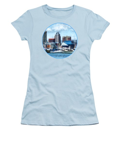 Boat - Baltimore Skyline And Harbor Women's T-Shirt (Athletic Fit)