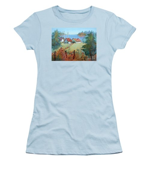 Boat Dock Women's T-Shirt (Athletic Fit)