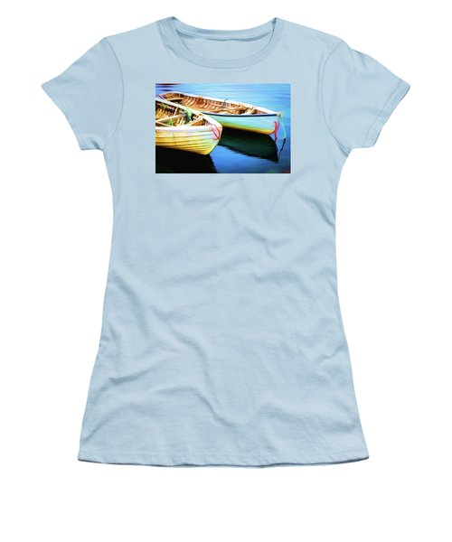 Boats Women's T-Shirt (Junior Cut) by Andre Faubert