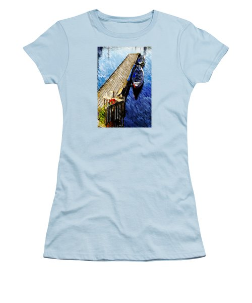 Women's T-Shirt (Junior Cut) featuring the photograph Boats At Rest by Bill Howard
