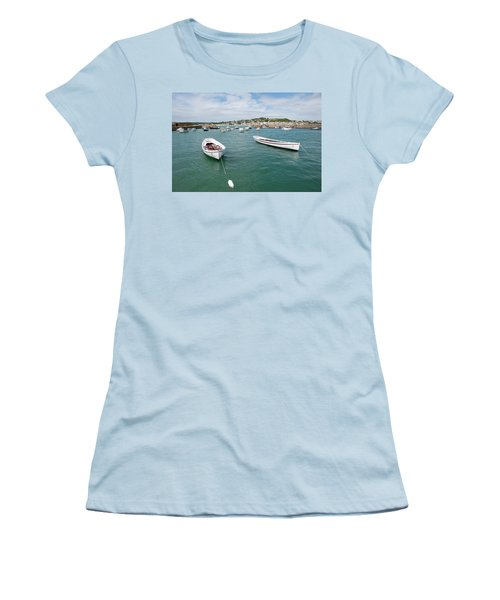 Boats In Habour Women's T-Shirt (Athletic Fit)