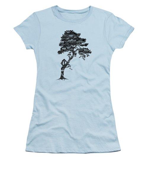 Women's T-Shirt (Junior Cut) featuring the digital art Bodhi Tree Of Awareness by Tammy Wetzel