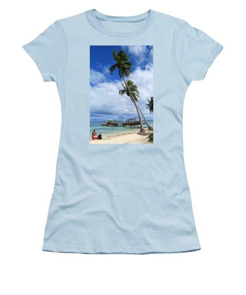 Bora Bora View Women's T-Shirt (Athletic Fit)