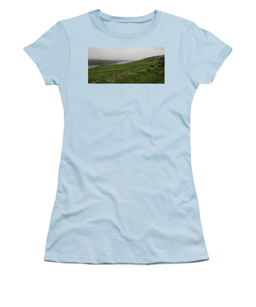 Borrowston Morning Clouds Women's T-Shirt (Athletic Fit)
