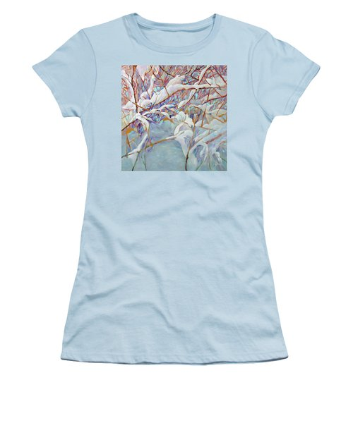 Women's T-Shirt (Junior Cut) featuring the painting Boughs In Winter by Joanne Smoley