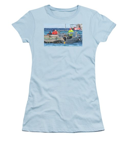 Women's T-Shirt (Junior Cut) featuring the photograph Bouncing Herring by Randy Hall
