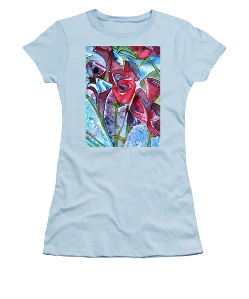 Bouquet Of Roses Women's T-Shirt (Athletic Fit)