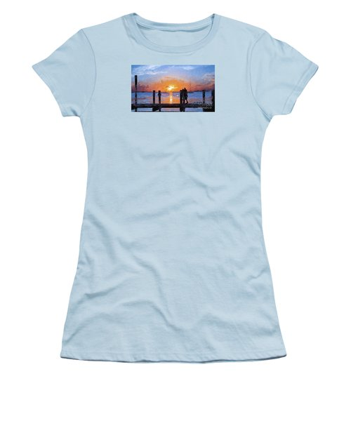Women's T-Shirt (Junior Cut) featuring the painting Break On Through  by Judy Kay