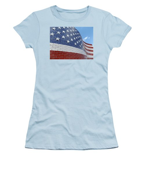 Brick Flag Women's T-Shirt (Junior Cut) by Erick Schmidt