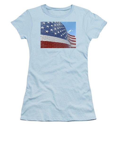 Brick Flag Women's T-Shirt (Athletic Fit)