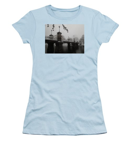 Bridge In Suspension 1867 Women's T-Shirt (Junior Cut) by Robert Nickologianis
