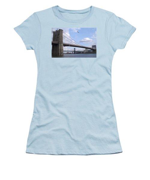 Brooklyn Bridge  Women's T-Shirt (Junior Cut) by Henri Irizarri
