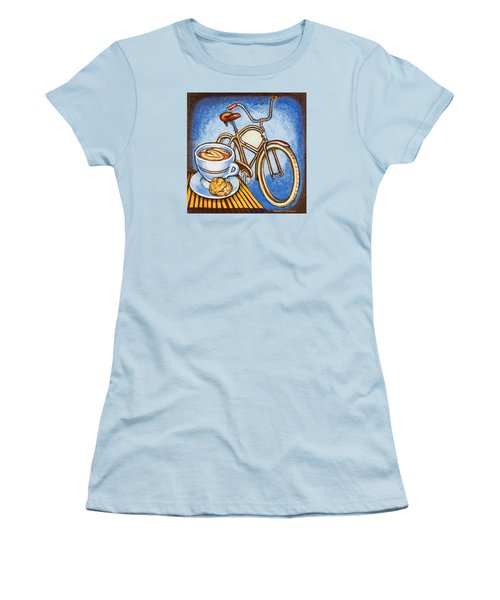 Brown Electra Delivery Bicycle Coffee And Amaretti Women's T-Shirt (Junior Cut)