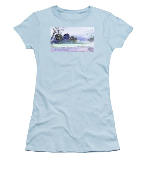 Bruny Island At Dusk Women's T-Shirt (Athletic Fit)