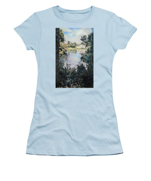 Buckingham Palace Garden - No One Women's T-Shirt (Junior Cut) by Richard James Digance